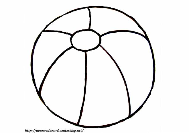 Free coloring and drawings Simple Beach Ball Coloring page