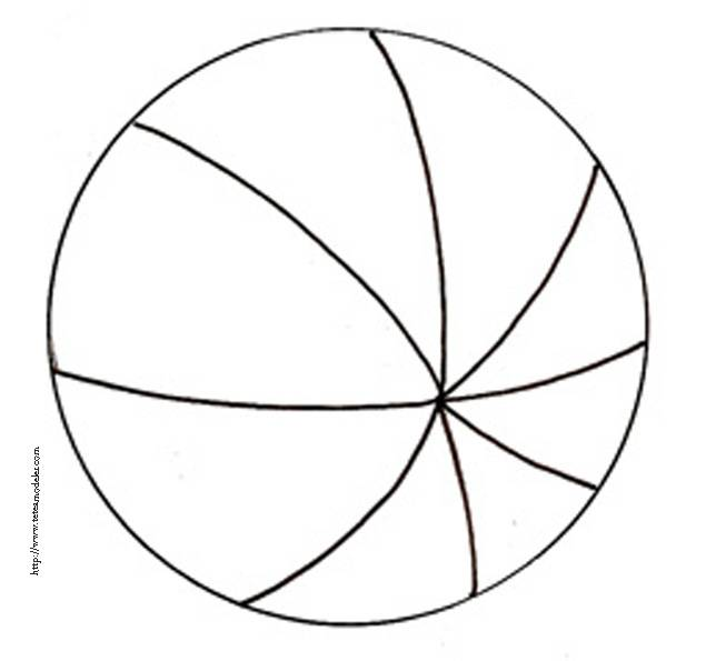 Free coloring and drawings Stylized Beach Ball Coloring page