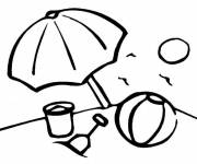 Free coloring and drawings Summer Beach Toys Coloring page