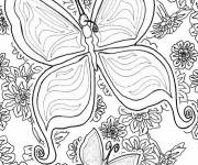 Coloring pages Beautiful butterfly mandala