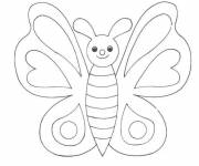 Coloring pages Butterfly to complete
