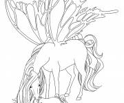 Coloring pages Horse Butterfly