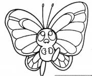 Coloring pages Little cute butterfly