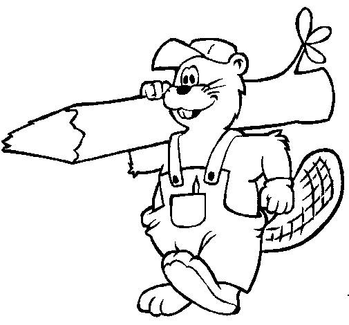 Free coloring and drawings Carpenter beaver Coloring page