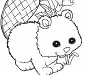 Coloring pages Cute beaver