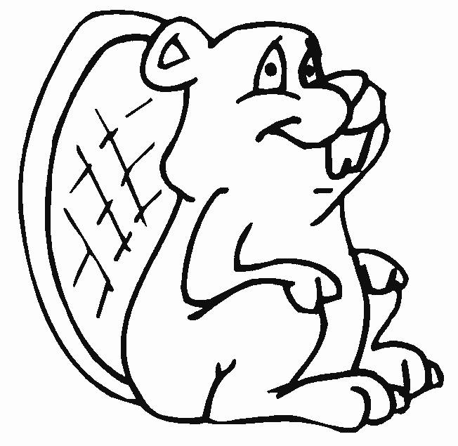 Free coloring and drawings funny beaver online Coloring page