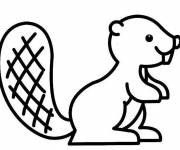 Coloring pages Stylized beaver