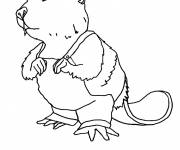Coloring pages Victor Le Beaver