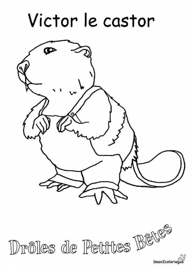 Free coloring and drawings Victor Le Beaver Coloring page