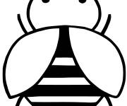 Coloring pages A big stylized bee