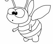 Coloring pages A humorous bee