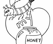 Coloring pages Bee and Honey for children