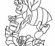 Coloring pages Bee and Honey in color