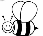 Coloring pages Bee for child