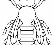 Coloring pages Bee front view