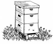 Coloring pages Bee hive