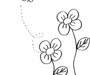 Coloring pages Bee in color