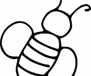Coloring pages Bee to complete