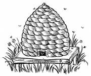 Coloring pages Beehive in pencil