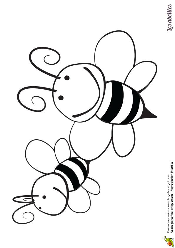 Free coloring and drawings Bees coloring Coloring page