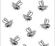 Coloring pages Bees everywhere