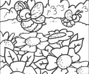 Coloring pages Bees in the forest