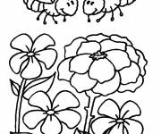 Coloring pages Bees in the garden