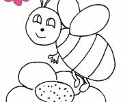 Coloring pages Bees looking at you
