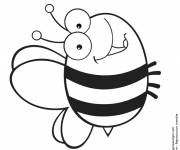Coloring pages Big Bee who smiles