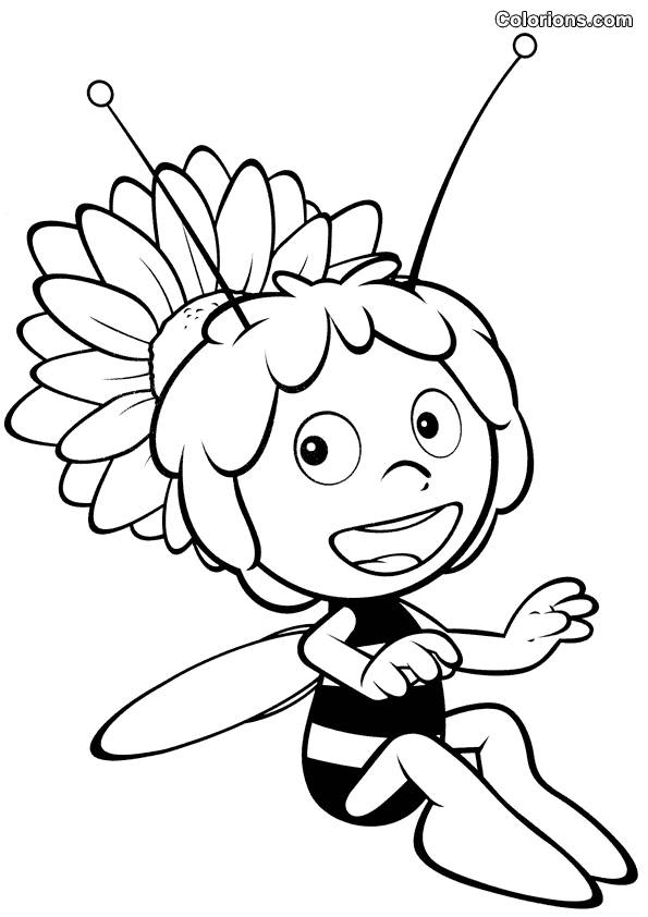 Free coloring and drawings Cartoon bee Coloring page