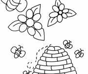 Coloring pages Color beehive