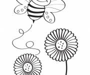 Coloring pages Excited bee
