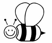 Coloring pages Flying bee