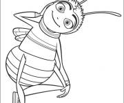Free coloring and drawings Happy bee Coloring page