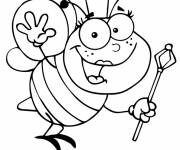 Coloring pages Queen bee