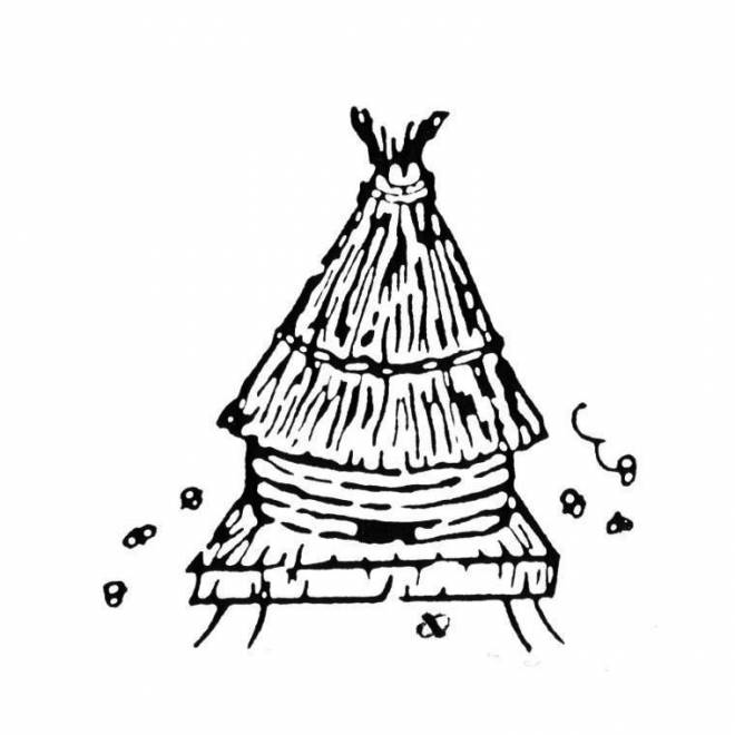 Free coloring and drawings The Bee Hive in the wild Coloring page