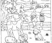 Free coloring and drawings Country Animals Coloring page