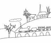 Free coloring and drawings Rural countryside Coloring page