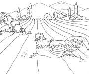 Free coloring and drawings The field in The Campaign Coloring page