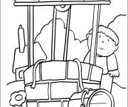 Free coloring and drawings Well in the countryside Coloring page