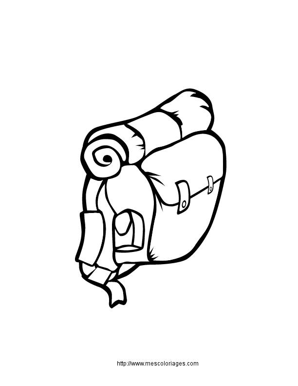 Free coloring and drawings A Camping Bag Coloring page