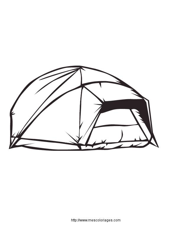 Free coloring and drawings A Camping Tent Coloring page