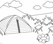 Free coloring and drawings Camping in Nature Coloring page