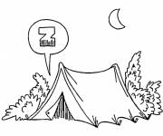 Free coloring and drawings Camping Landscape Coloring page