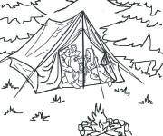 Free coloring and drawings Camping Tent Coloring page