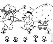 Free coloring and drawings Campsite in the countryside Coloring page
