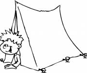 Free coloring and drawings Color Camping Tent Coloring page