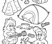 Free coloring and drawings Fun camping Coloring page