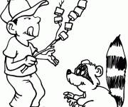 Free coloring and drawings Humorous camping Coloring page
