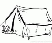 Coloring pages Man Resting Camping